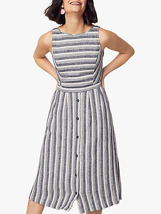 Oasis Stripe Button Dress, Multi