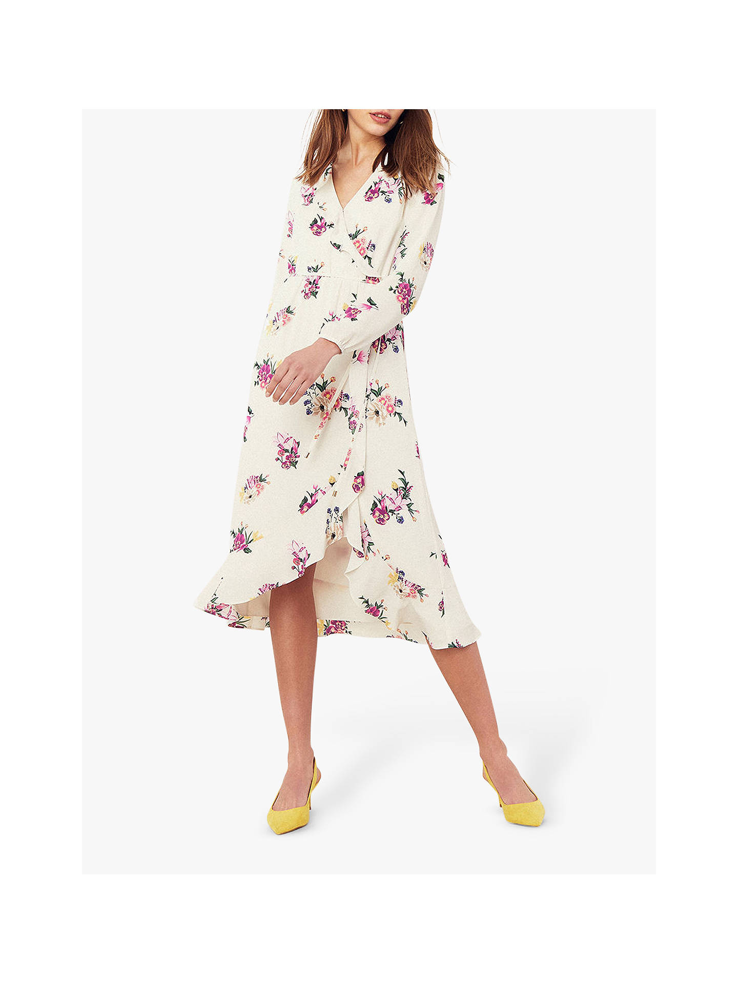 830fccb9d293 Buy Oasis Garden Chiffon Dress, Multi/Natural, 8 Online at johnlewis.com ...