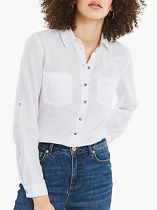 Oasis Brushed Cotton Shirt, White