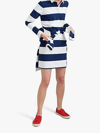 32ae73a3b8 Joules Winona Striped Cotton Rugby Shirt Dress