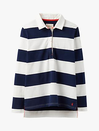 Joules Amber Striped Cotton Rugby Shirt