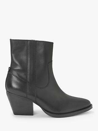Kin Paxley Leather Ankle Boots, Black