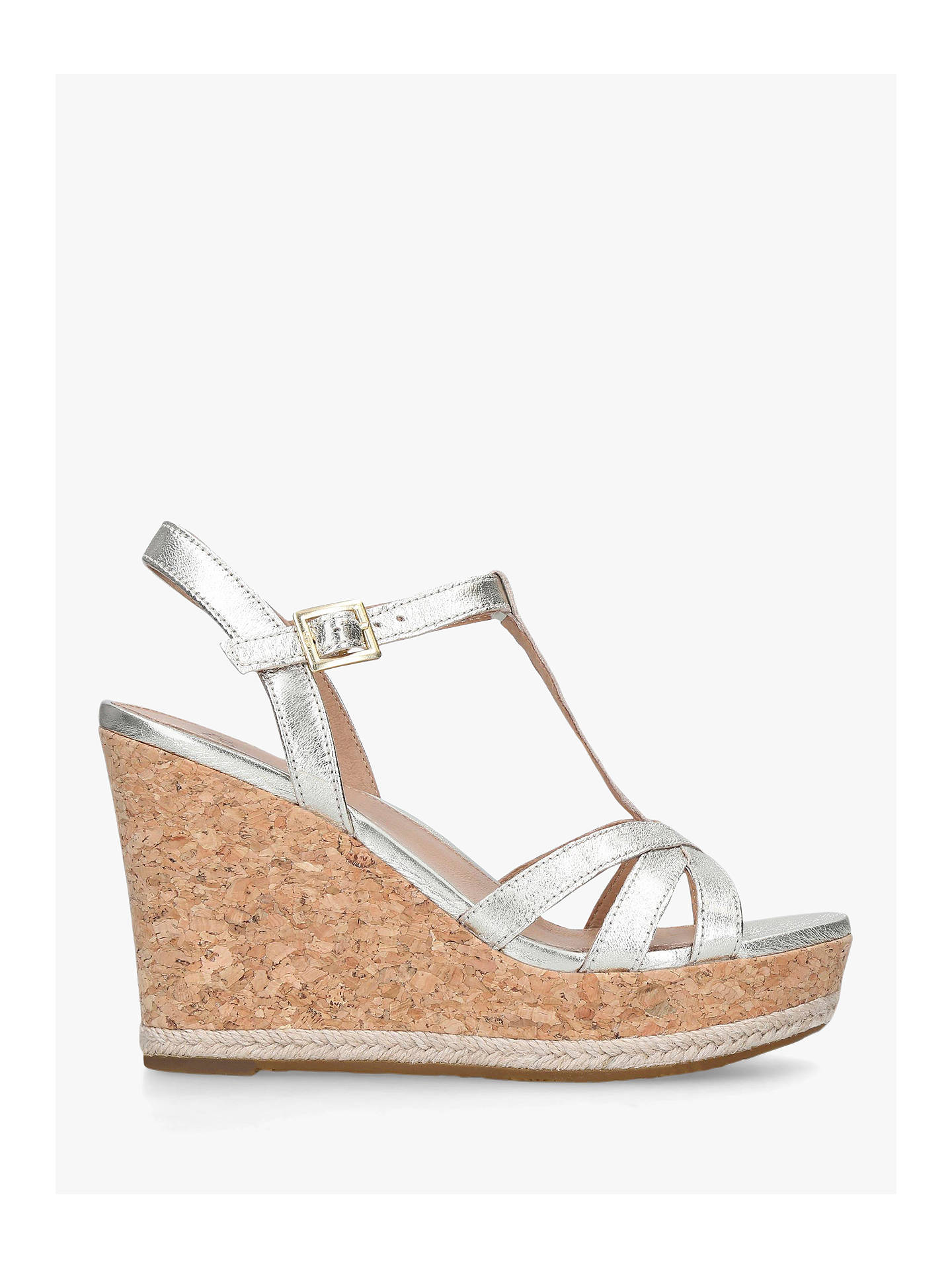 a6fbb7aadf7 UGG Melissa Metallic Leather Wedge Sandals, Gold at John Lewis ...