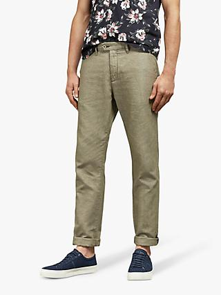 80f7eb66917 Ted Baker Spashor Slim Fit Linen Mix Trousers