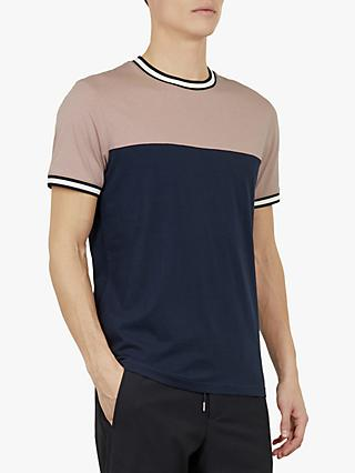 589b0df90 Ted Baker Silva Colour Block Short Sleeve T-Shirt