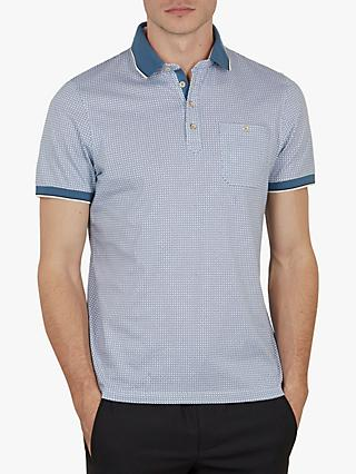 14ea14226 Ted Baker Sekii High Summer Geo Print Polo Shirt