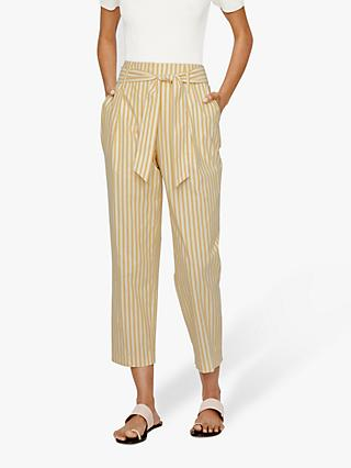 Warehouse Cotton Stripe Trousers, Multi