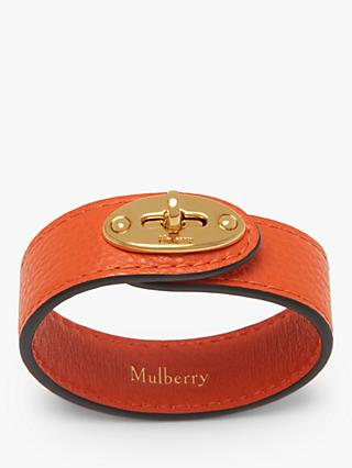 Mulberry Bayswater Leather Bracelet, Orange