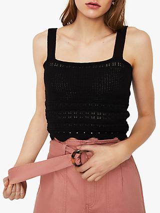 f5459ed8cf82b2 Warehouse Crochet Bralette Vest Top