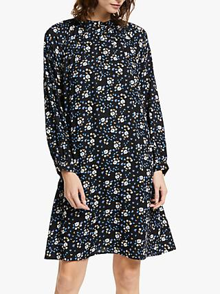 Collection WEEKEND by John Lewis Alexandra Floral Smock Dress, Black/Multi