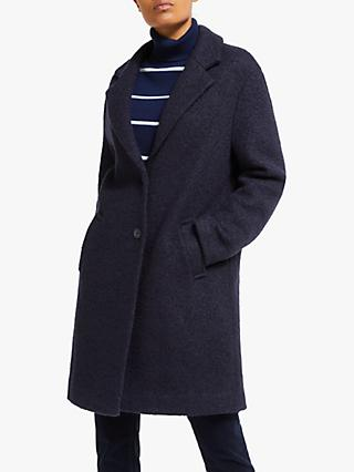 Collection WEEKEND by John Lewis Moxie Textured Boucle Coat, Navy
