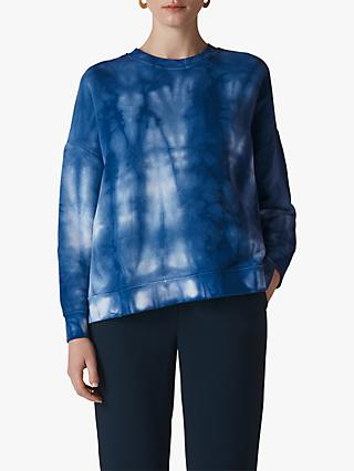 Whistles Tie Dye Cotton Sweatshirt, Blue