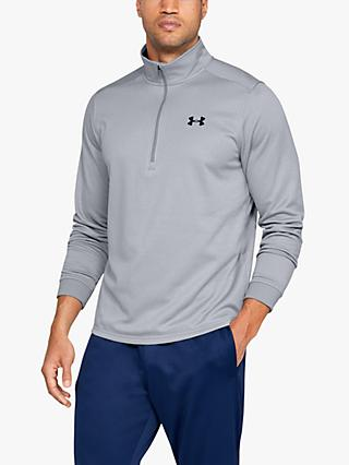 Under Armour Fleece 1/2 Zip Training Top, Steel/Black