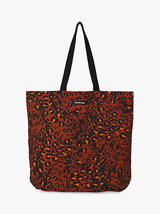 Whistles Ludlow Printed Tote Bag, Brown/Multi