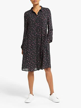 Collection WEEKEND by John Lewis Heart Print Shirt Dress, Black/Multi