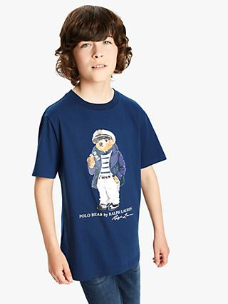 d939b8dc30d Polo Ralph Lauren Boys  Bear Print T-Shirt