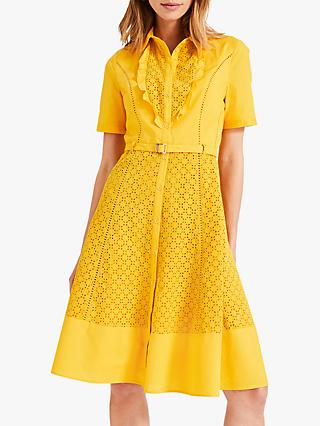 Damsel in a Dress  Brielle Broderie Dress, Marigold