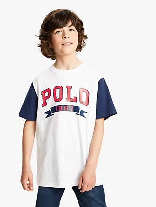 Polo Ralph Lauren Boys' Logo T-Shirt, White