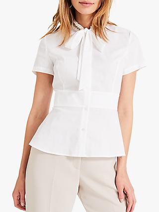 Damsel in a Dress Ashanti Embellished Tie Neck Blouse, Ivory
