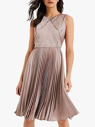 Damsel in a Dress Zoey Pleated Textured Dress, Champagne
