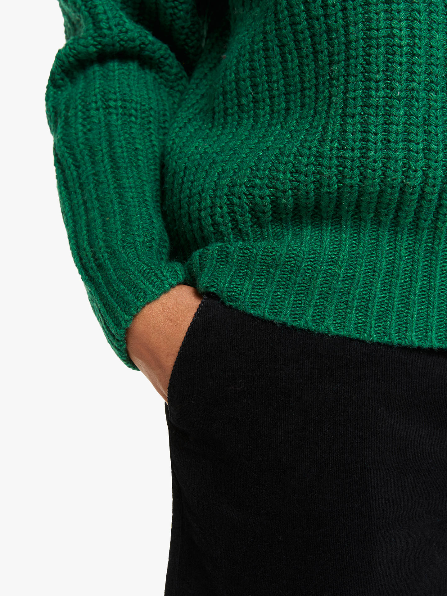Buy Collection WEEKEND by John Lewis Raglan Sleeve Chunky Jumper, Green Marl, 8 Online at johnlewis.com