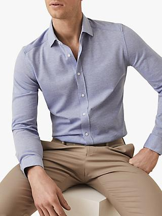 0712e6761168 Reiss Gosforth Textured Cotton Slim Fit Shirt