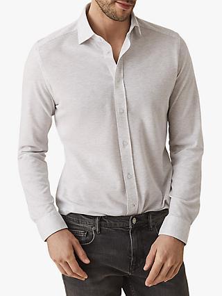 6f7a96018a Reiss Gosforth Textured Cotton Slim Fit Shirt