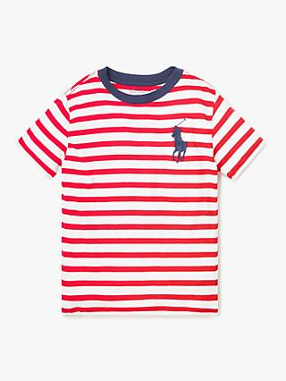 d26c433610a Polo Ralph Lauren Boys  Stripe T-Shirt