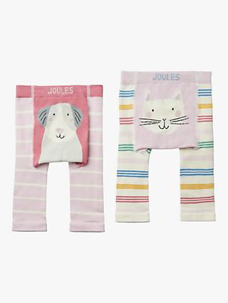 236f5ef802422 Baby Joule Lively Legs Bunny Leggings, Pack of 2, Pink