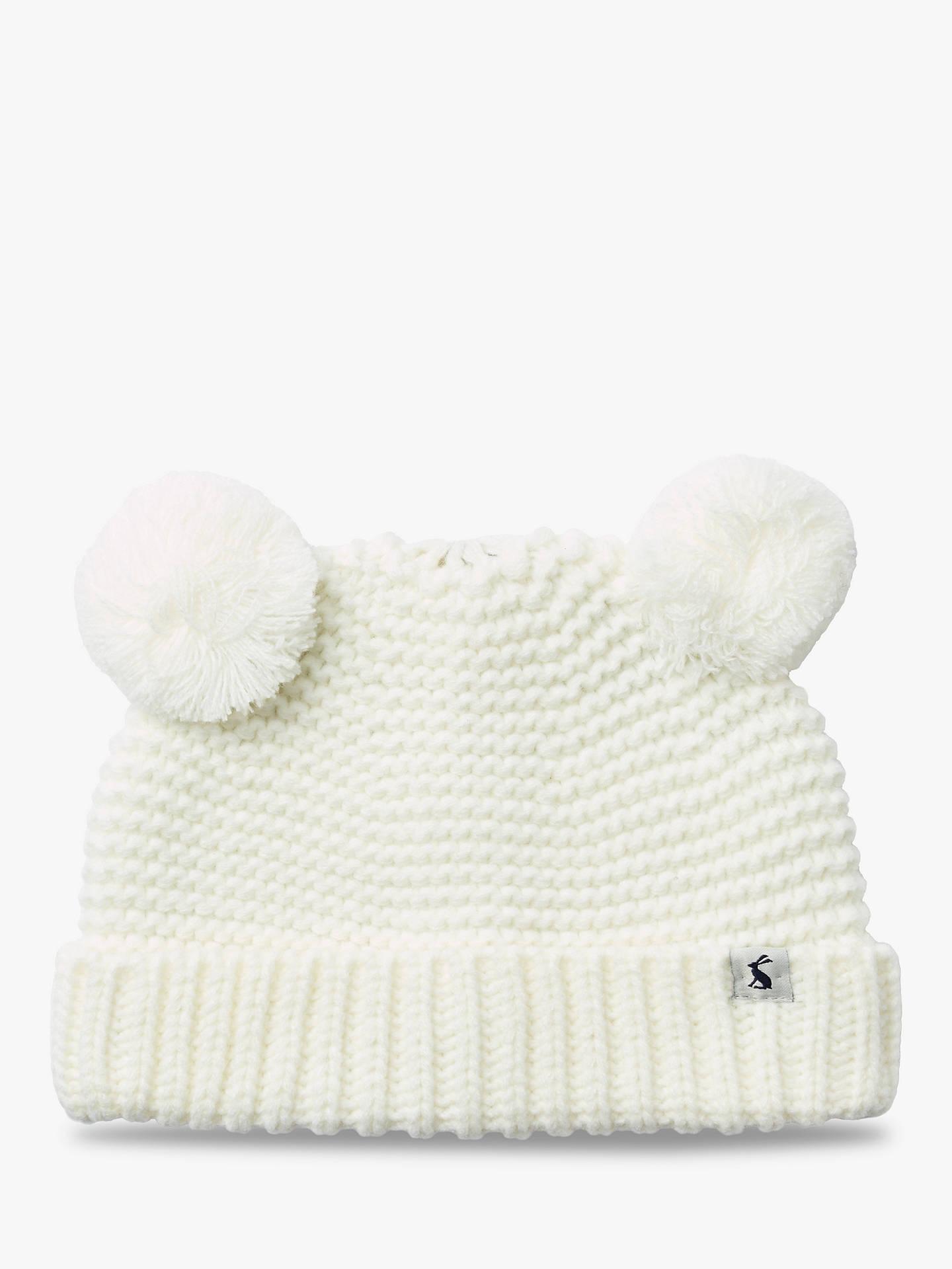 d7719f9aa Baby Joule Pom Pom Hat, Cream
