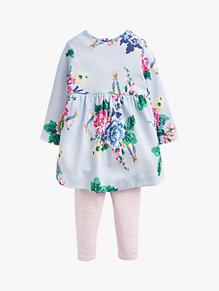 e8a76f7cc Baby Joule Christina Rabbit Dress And Legging Set, Blue/Pink