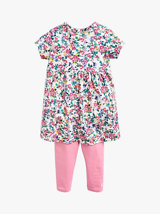 a242a3bd7 Baby Joule Christina Ditsy Floral Dress And Legging Set, White/Pink