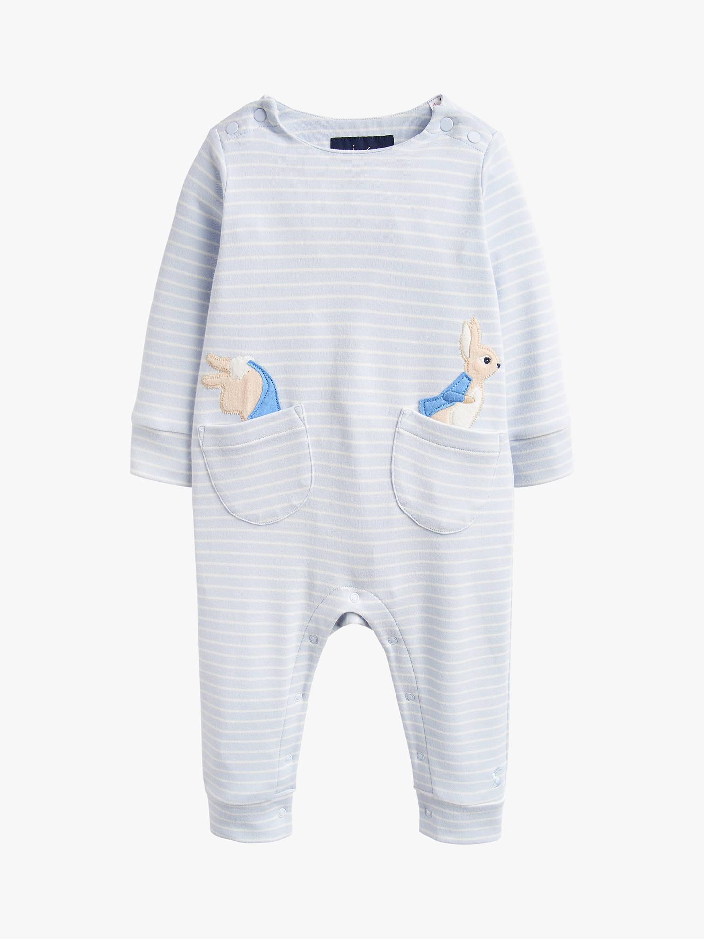 70beb8046aa78 Baby Joule Gracie Peter Rabbit Babygrow, Light Blue