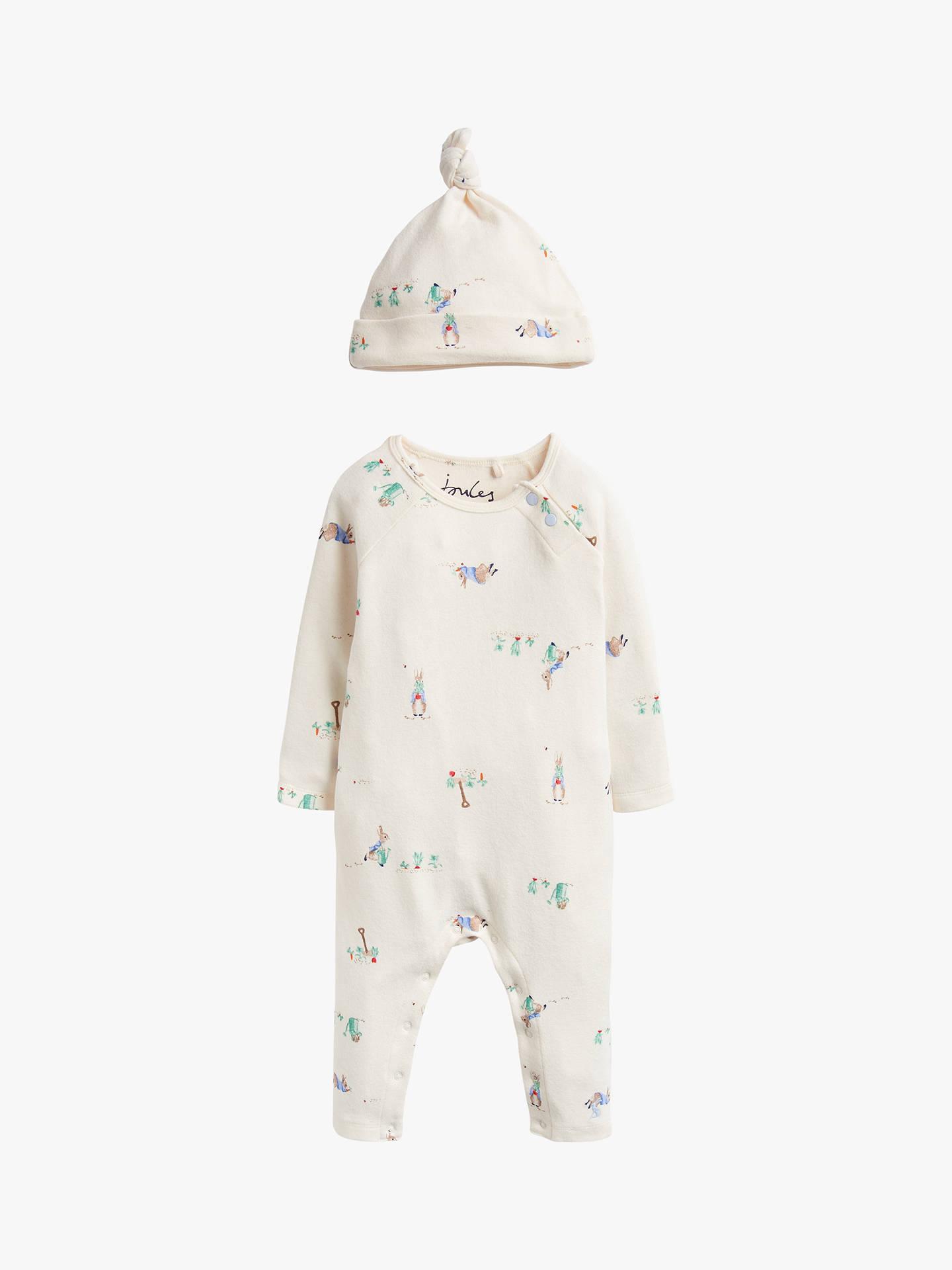 dbd69d307b7c5 Baby Joule Giggle Peter Rabbit Babygrow, Cream