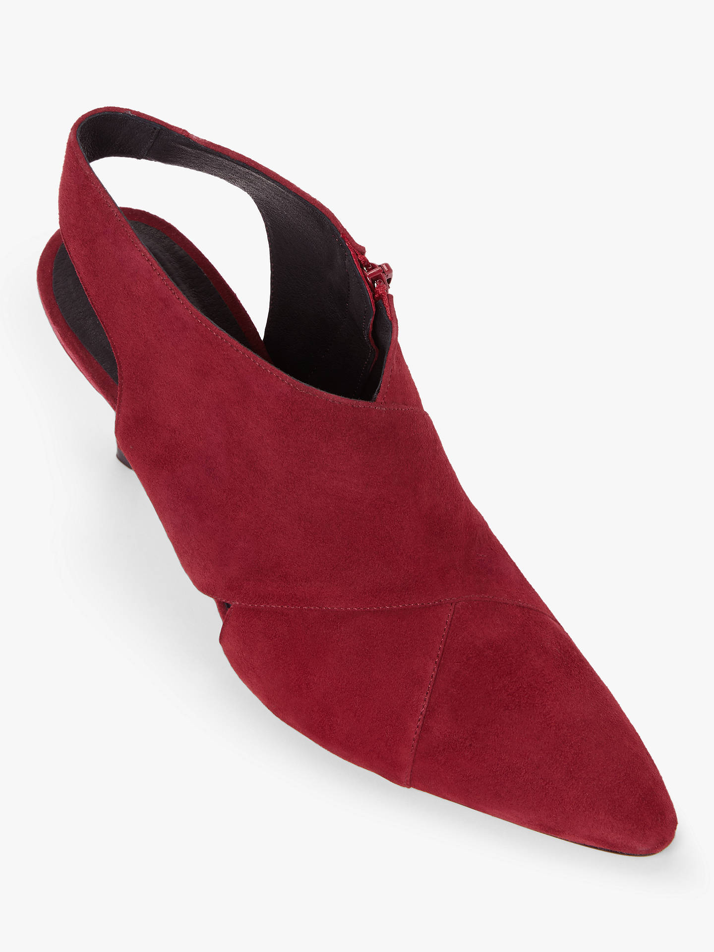 Buy John Lewis & Partners Wanda Suede Slingback Shoe Boots, Red, 4 Online at johnlewis.com