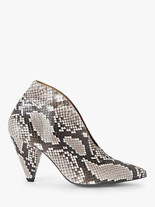 AND/OR Alvie Leather Shoe Boots, Reptile Grey