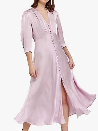 Ghost Madison Satin Dress, Lilac