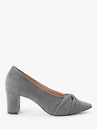 John Lewis & Partners Amilia Block Heel Twist Trim Court Shoes
