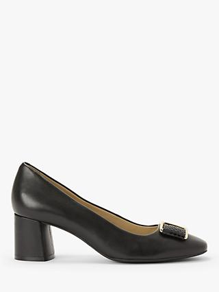 John Lewis & Partners Adrianna Block Heeled Trim Court Shoes