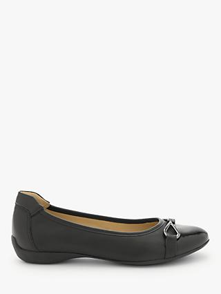 John Lewis & Partners Halina Leather Ballerina Pumps