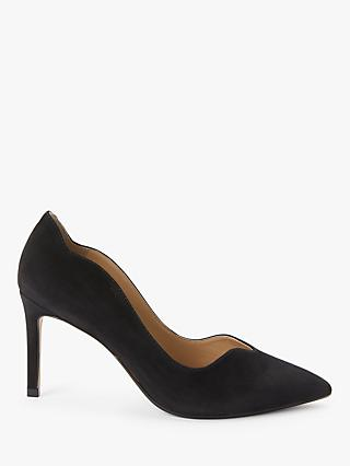 John Lewis & Partners Abbie Scalloped Stiletto Heel Court Shoes