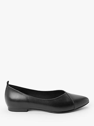 Kin Hetti Leather Flat Pumps, Black