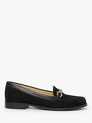John Lewis & Partners Gail Suede Bar Trim Loafers