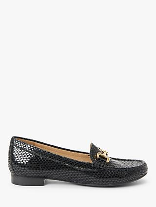 John Lewis & Partners Austin Leather Buckle Moccasins, Black