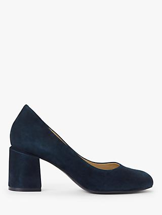 John Lewis & Partners Amii Suede Block Heel Court Shoes