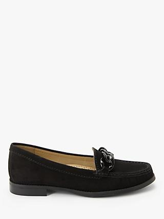 John Lewis & Partners Giovanna Suede Chain Trim Loafers