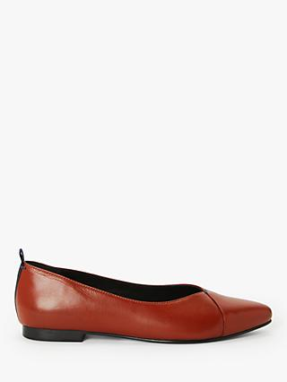 Kin Hetti Leather Pumps, Orange