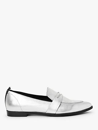 Kin Ginny Pointed Loafers, Silver