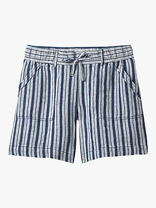 White Stuff Anna Linen Shorts, Navy