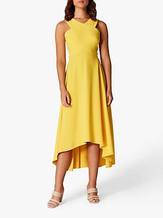 f1041eeccf Karen Millen Drop Hem Midi Dress, Yellow